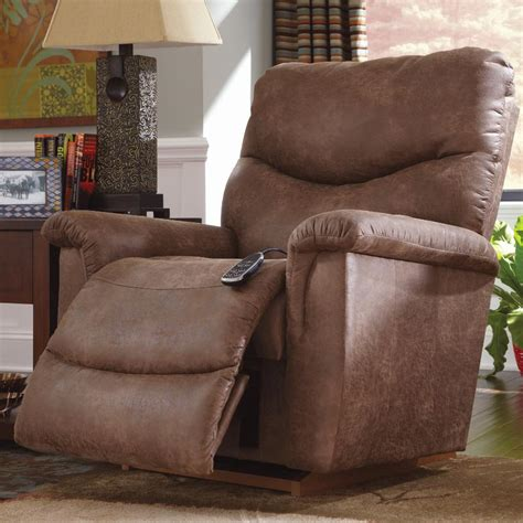 faux leather casual power recline xr reclina rocker