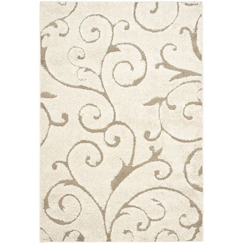 safavieh florida rug safavieh florida scroll shag beige indoor area rug