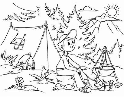 Camping Printables Take Coloring Pages