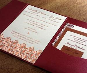 printed pocket folders letterpress wedding invitation blog With wedding invitations with pockets folders