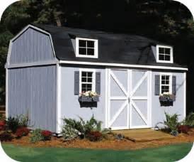 handy home berkley 10x14 wood storage shed kit 18421 5