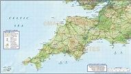 South West England County Road & Rail Map with Regular ...