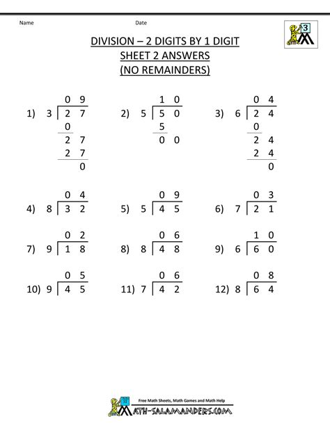division worksheets with answers division worksheets 3rd grade