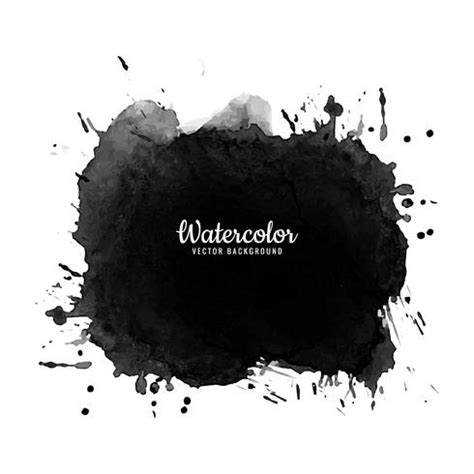 Abstract Black Watercolor by Abstract Black Watercolor Splash Design Vector