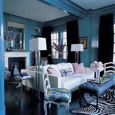 canape bleu indigo back to back sofas eclectic living room redd