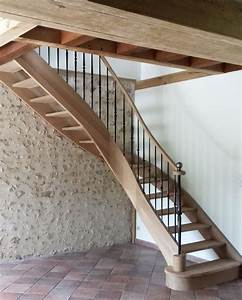 Escalier Bois Quart Tournant : escalier classique en bois et m tal escalier quart ~ Farleysfitness.com Idées de Décoration