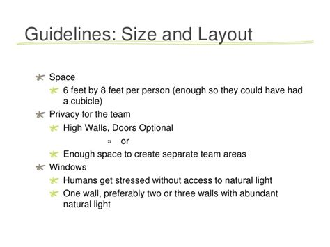 Office Space Allocation Guidelines by Guidelines For Open Office Layouts