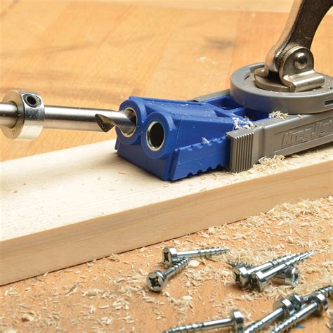kreg  jig junior pocket hole wood joinery kit woodwork