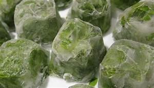 Лед для умывания из трав от морщин