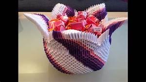 Basteln Aus Papier : 3d origami korb wir basteln aus papier zusammen mit fererro youtube ~ A.2002-acura-tl-radio.info Haus und Dekorationen