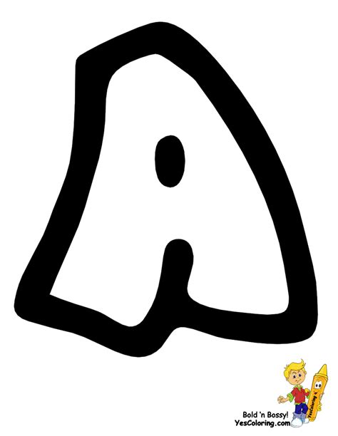 graffiti letter a free alphabet numbers coloring pages preschool 15352