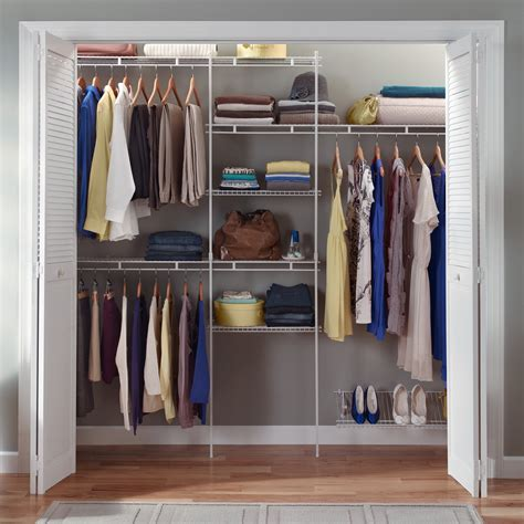 Closet Closet Organizer by Closetmaid Closet Organizer Kit With Shoe Shelf 5 To 8
