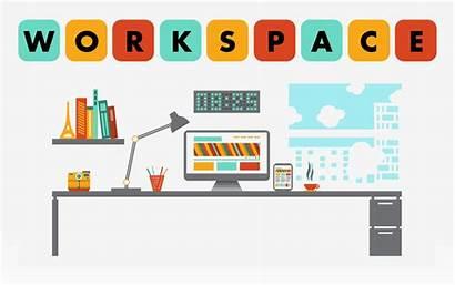 Organized Clip Clipart Desk Clean Workspace Office