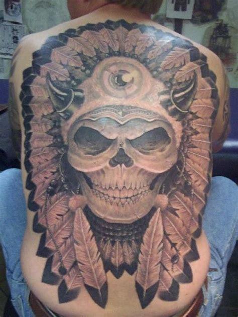 20 Native American skull tattoos