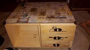 Table Basse Caisse Bois : table basse caisse bois vin ~ Nature-et-papiers.com Idées de Décoration