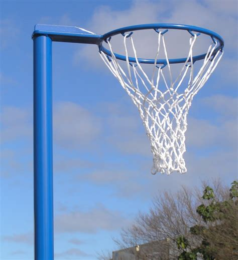 outdoor basketball hoop indoor fixed height netball post fits floor socket