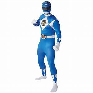 SALE BLUE Adult Mighty Morphin Power Rangers 2nd Skin ...