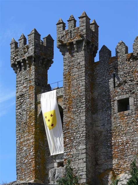 medieval castle towers stock image image  tourism