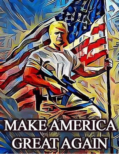 Trump America Again Donald Meme Press Random