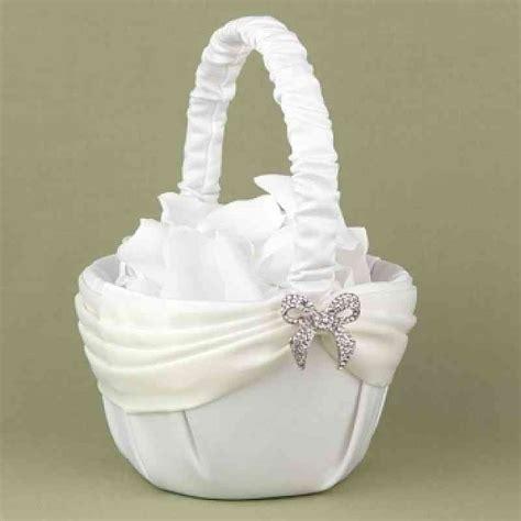 dazzling beginning flower girl basket wedding collectibles