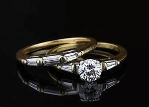 pre owned diamond wedding set With preowned wedding ring sets