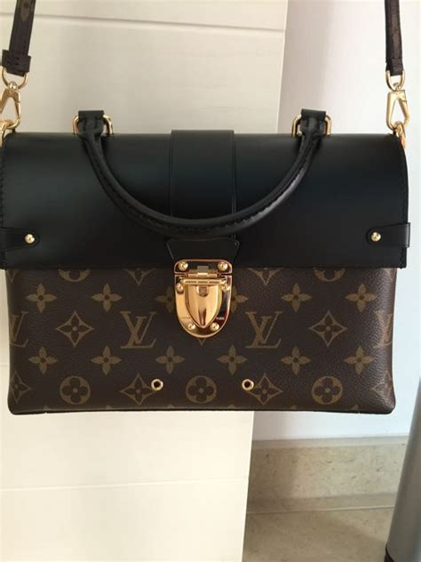 louis vuitton monogram  handle flap bag shoulder bag