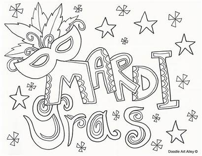 Mardi Gras Coloring Pages Printable Doodle Sheets