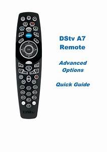Dstv Remote A6 Advanced Options