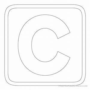 Printable block letter stencils free printable stencils for C letter block