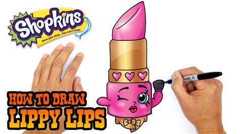 draw shopkins lippy lips  beginners youtube