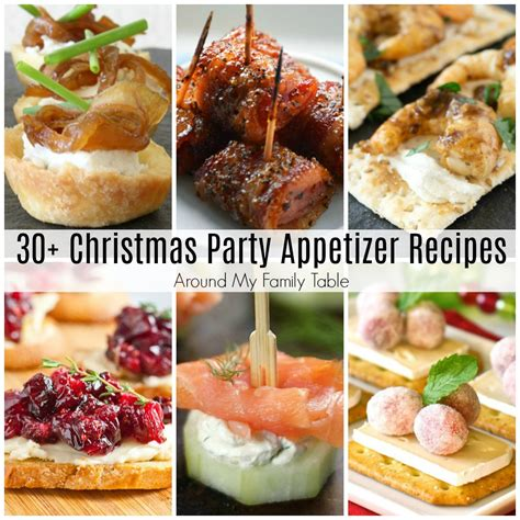 christmas party appetizer recipes around my family table