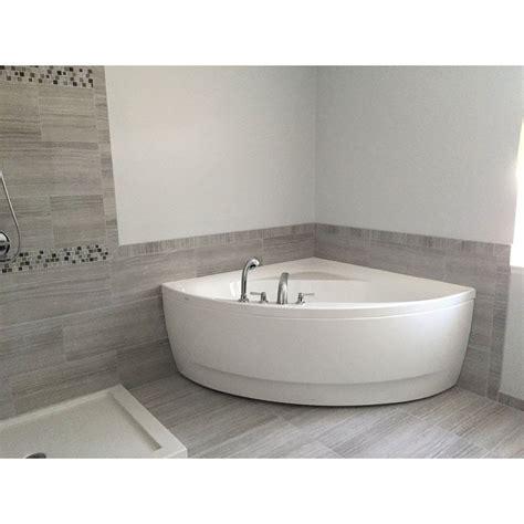 Corner Tub Bathroom Designs by 55 Inch Acrylic Corner Bathtub Master Bathroom