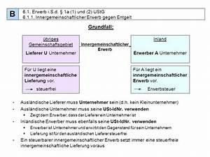 Rechnung Innergemeinschaftlicher Erwerb : gliederung a abgabenordnung b umsatzsteuer ppt ~ Themetempest.com Abrechnung