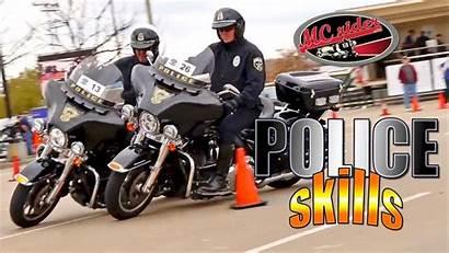 Police Motorcycle Cops Motor Skills Course