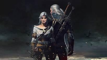 Witcher Hunt Wild Ciri Geralt Rivia Background