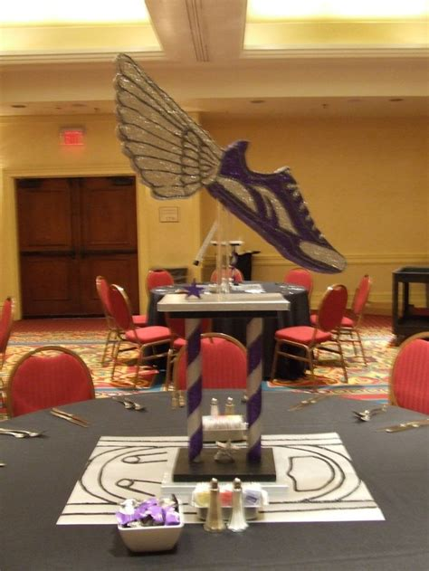 sports centerpieces for tables 17 best images about track themed graduation ideas on