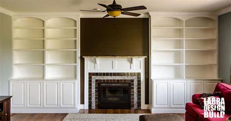 living room custom built  bookcase novi labra design build