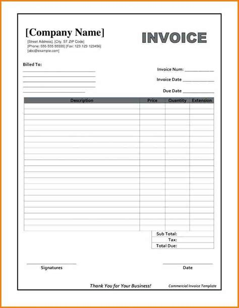 pin  howard jian  invoice template word invoice