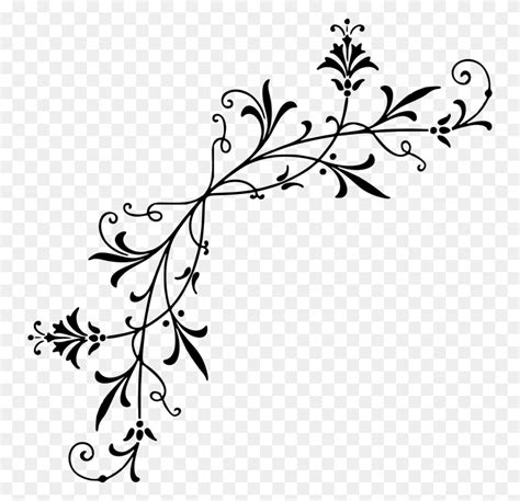 decorative corners stencil designs black  white drawing