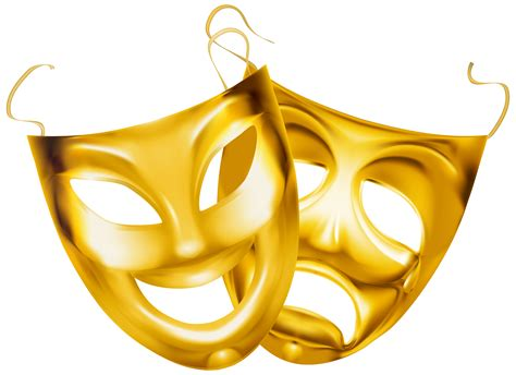 Gold Theater Masks Png Clipart Image Gallery