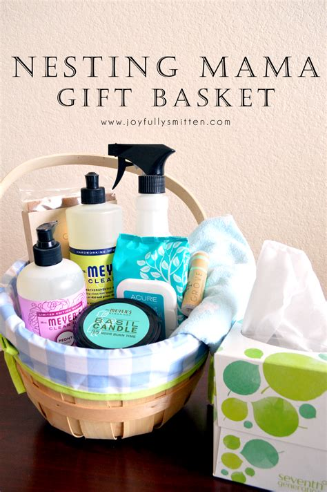 Looking for unique and creative pregnancy gifts for first time moms? DIY: Nesting Mama Gift Basket - Joyfully Smitten