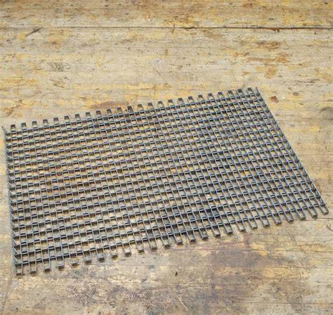 Steel Doormat by Architectural Salvage Linked Metal Industrial Door Mat At