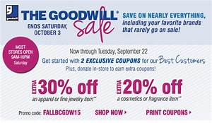 Herbergers  30  Off Goodwill Coupon Ends Soon   Fall 2015