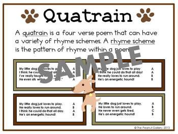 poetry task cards writing quatrains with figurative