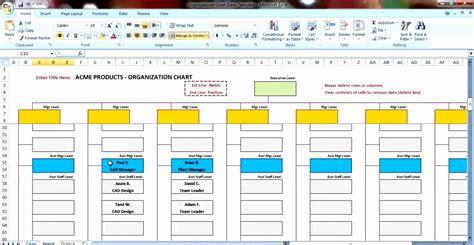 excel templates organizational chart