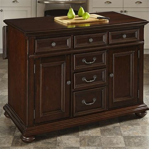 kitchen island cherry home styles colonial classic kitchen island with wood top in dark cherry 5528 94