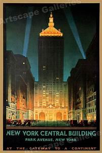 New York Poster : new york central building park avenue 1930s vintage style travel poster 24x36 ebay ~ Orissabook.com Haus und Dekorationen