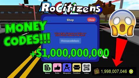 trillion rocitizens money codes insane