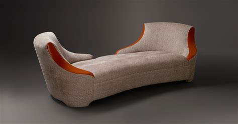 Chaise Longue Covered In Fabric Or