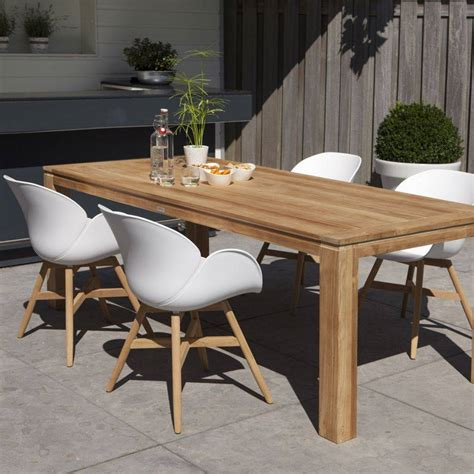 Teak Holz + Kunststoff Sitzschale Stuhl Garten Terrasse